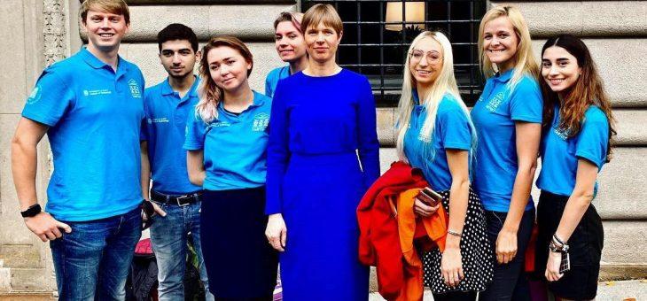 Meeting the President of Estonia in New-York